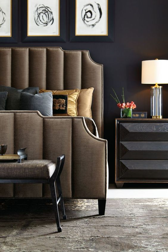 #bedroom | headboard | Bayonne Quinn Mansfield | Bernhardt