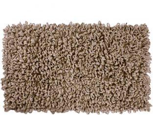 Dywanik łazienkowy beżowy Loops 60×120 cm
