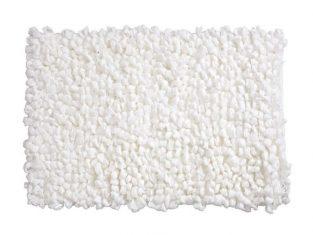 Dywanik łazienkowy biały Loops 50×70 cm