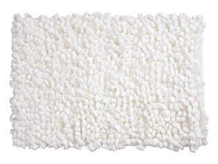 Dywanik łazienkowy biały Loops 60×120 cm
