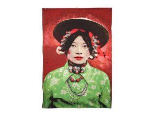 Pled dekoracyjny żakardowy FS Home Collections Girl Kham Tibetians 140×200 cm