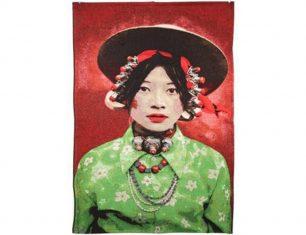 Pled dekoracyjny Girl Kham Tibetians 100×70 cm
