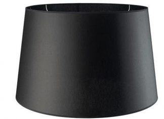 Abażur do lampy podłogowej Chic Black Round 40x50x29,5 cm