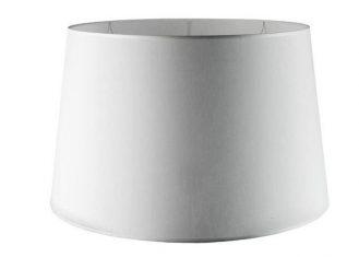 Abażur do lampy podłogowej Chic White Round 40x50x29,5 cm
