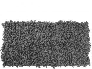 Dywanik łazienkowy szary Loops 60×120 cm