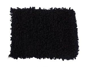 Dywanik łazienkowy czarny Loops 50×70 cm