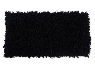 Dywanik łazienkowy czarny Loops 60×120 cm