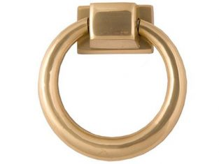 Kołatka do mebli Ring Gold 10,5×3,5 cm