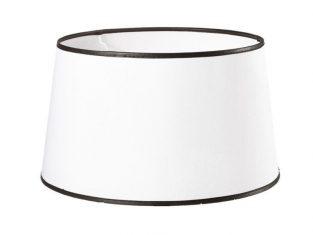 x Abażur okrągły z czarnymi paskami Rita White 26,5×31,5×18 cm