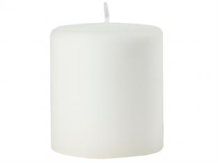 Świeca biała Velours 9×10 cm