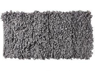 Dywanik łazienkowy jasnoszary Loops 60×120 cm