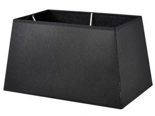 X Abażur prostokątny czarny Chic 25x30x17 cm