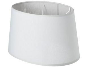 Abażur szary Chic Grey Oval 24,5x30x17cm