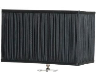 X Abażur prostokątny plisowany czarny Plisse 23x36x23 cm