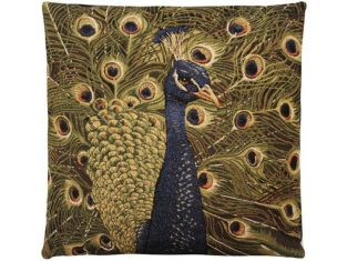 Poduszka żakardowa FS Home Collections Peacock Face 45×45 cm