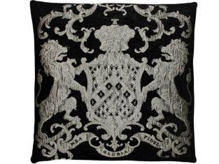 Poduszka żakardowa FS Home Collections Fiorantello Black&Silver 55cm