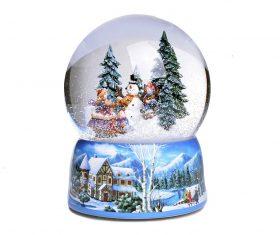 "Kula grająca BBHome ""Christmas Snowman & Kids"" L"