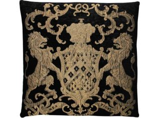 Poduszka ozdobna żakardowa FS Home Collections Fiorantello Black&Gold 55cm