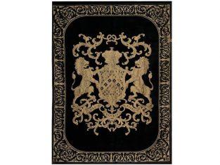 Pled dekoracyjny FS Home Collections Fiorantello Black&Gold 175×235 cm