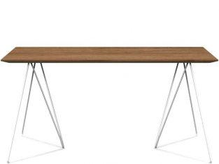 Stół z dębowym blatem i metalowymi nogami Miloni Fly 160x85x76