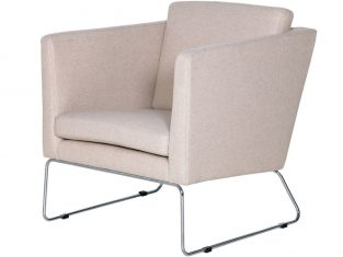 Fotel na metalowych nogach Clark Sits