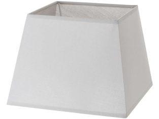 x Abażur kwadratowy szary Chic Grey 15x20x15 cm