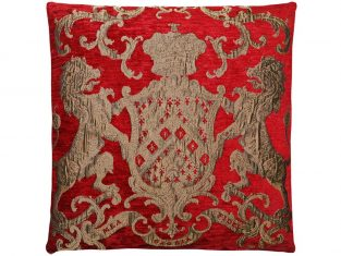 Poduszka ozdobna żakardowa FS Home Collections Fiorantello Red 55cm