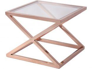Stolik stalowy BBHome Metropolis Rose 60x60x47cm