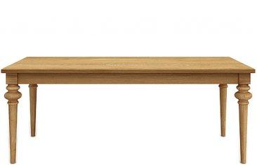 Stół dębowy Deco z frezowanymi nogami Miloni
