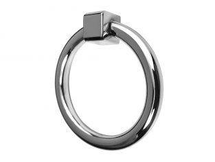 Uchwyt do mebli kołatka srebrna Ring Silver 52 mm