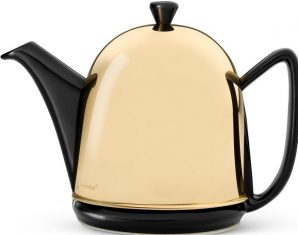 Dzbanek porcelanowy BBHome Manto Gold Black 1000 ml