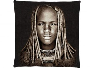 Poduszka żakardowa FS Home Collections Himba Girl 45×45 cm