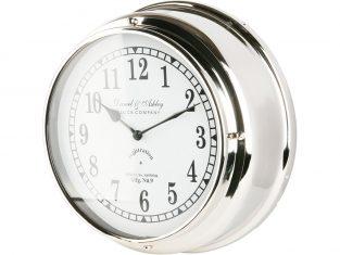 Zegar ścienny z białym cyferblatem BBHome  Ashley White 35 cm