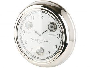 Zegar ścienny z białym cyferblatem BBHome Cities White 45 cm