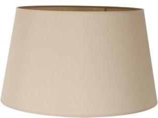 Abażur okrągły beżowy Chic Round 40x50x29,5 cm