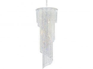 Żyrandol kryształowy Helix Nickel 50×135 cm