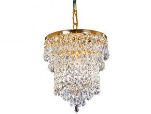 Żyrandol kryształowy Rosca Gold 20×24 cm