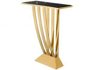 Konsola Eichholtz Beau Deco Gold 70x30x92,5 cm
