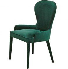 Krzesło tapicerowane zielone Pols Potten Aunty Green Velvet