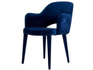 Krzesło niebieskie tapicerowane Pols Potten Cosy Blue Velvet