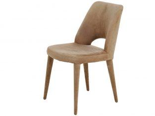 Krzesło tapicerowane beżowe Holy Beige Velvet Pols Potten