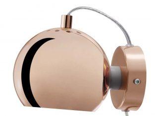 Kinkiet ścienny miedź polerowana Frandsen Ball 15×12 cm
