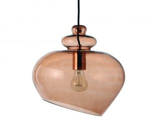 Lampa wisząca Frandsen Grace Brown Copper 30x250cm