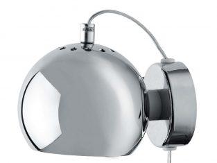 Kinkiet ścienny chromowany polerowany Frandsen Ball 15×12 cm