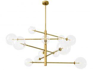 Hanging lamp Eichholzt Argento Brass 130 × 93,5 cm