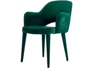 Krzesło zielone tapicerowane Pols Potten Cosy Green Velvet