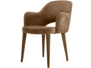Krzesło beżowe tapicerowane Pols Potten Cosy Beige Velvet