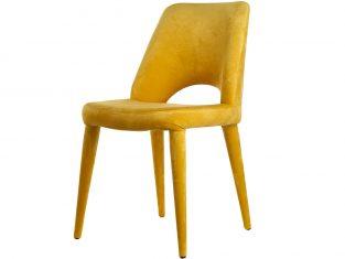 Krzesło tapicerowane żółte Holy Yellow Velvet Pols Potten