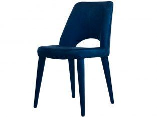 Krzesło tapicerowane niebieskie Pols Potten Holy Blue Velvet