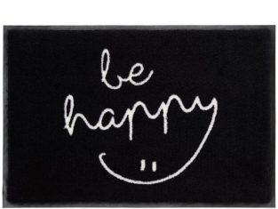 Wycieraczka z napisem czarna Outdoor Be Happy 50×75 cm